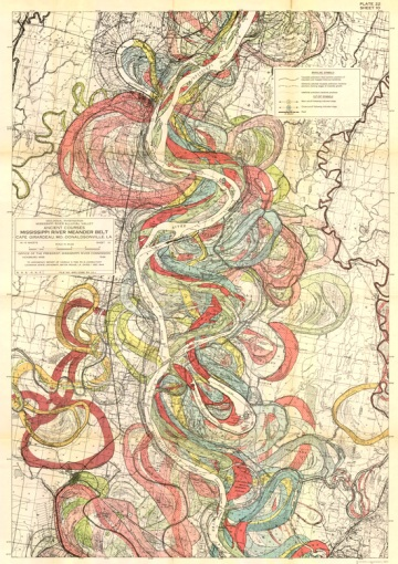 Mississippi meandering map